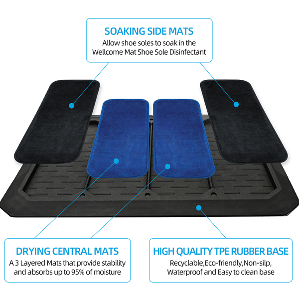 Hot Sale Household TPE Entrance Non-slip Disinfection Floor mat (9)