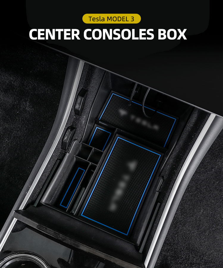 CENTRAL CONTROL STORAGE BOX FOR TESLA MODEL 3 2019+