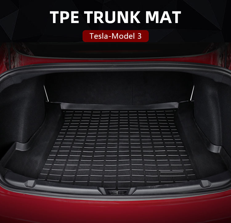 TPE CAR TRUNK MAT FOR Tesla Model 3 (4)